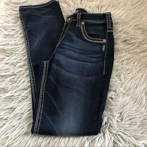 Silver jeans high rise, straight dark wash size 29